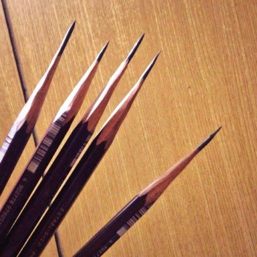 手削り鉛筆